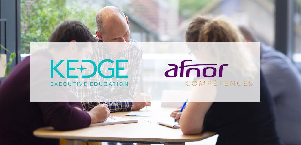 Notre partenaire AFNOR Compétences pour le Programme ISMQ - KEDGE