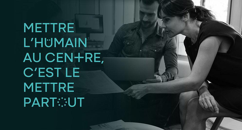 Mettre l'humain au centre c'est le mettre partout. Professionnels en situation de travail, coworking.