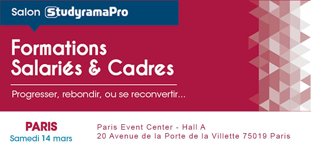 Salon StudyramaPro de la Formation des Salariés et des Cadres à Paris - KEDGE